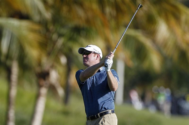 RIO GRANDE, PR - MARCH 11:  Troy Matteson hits a shot during the second round of the Puerto Rico Open presented by seepuertorico.com at Trump International Golf Club on March 11, 2011 in Rio Grande, Puerto Rico.  (Photo by Michael Cohen/Getty Images)