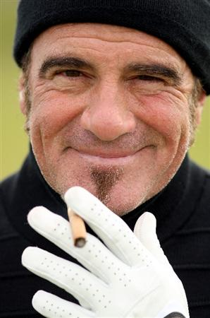 ST. ANDREWS, UNITED KINGDOM - OCTOBER 01:  Rock drummer Tico Torres in relaxed mood during the final practice round of The Alfred Dunhill Links Championship at The Old Course on October 1, 2008 in St.Andrews, Scotland.  (Photo by Warren Little/Getty Images)