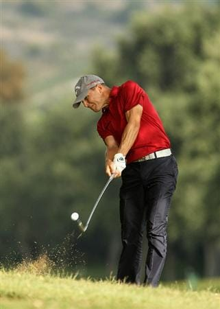 SOTOGRANDE, SPAIN - OCTOBER 29:  Niclas Fasth of Sweden plays into the 7th green during the second round of the Andalucia Valderrama Masters at Club de Golf Valderrama on October 29, 2010 in Sotogrande, Spain.  (Photo by Richard Heathcote/Getty Images)