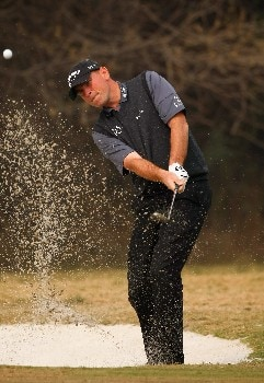 NEW DELHI, INDIA - FEBRUARY 06:  Thomas Bjorn of Denmark plays a bunker shot during the Pro - Am at the Emaar-MGF Indian Masters at the Delhi Golf Club on February 6, 2008 in Delhi, India.  (Photo by Stuart Franklin/Getty Images)