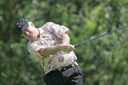 Dave Stockton hits a drive during the final round of the Bayer Advantage Classic held at LionsGate Golf Course in Overland Park, KS. on June 12, 2005.Photo by G. Newman Lowrance/WireImage.com