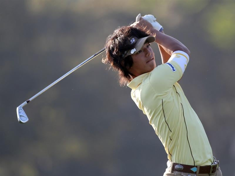 ORLANDO, FL - MARCH 25:  Ryo Ishikawa of Japan plays a shot on the 14th hole during the second round of the Bay Hill Invitational presented by MasterCard at the Bay Hill Club and Lodge on March 25, 2011 in Orlando, Florida.  (Photo by Sam Greenwood/Getty Images)