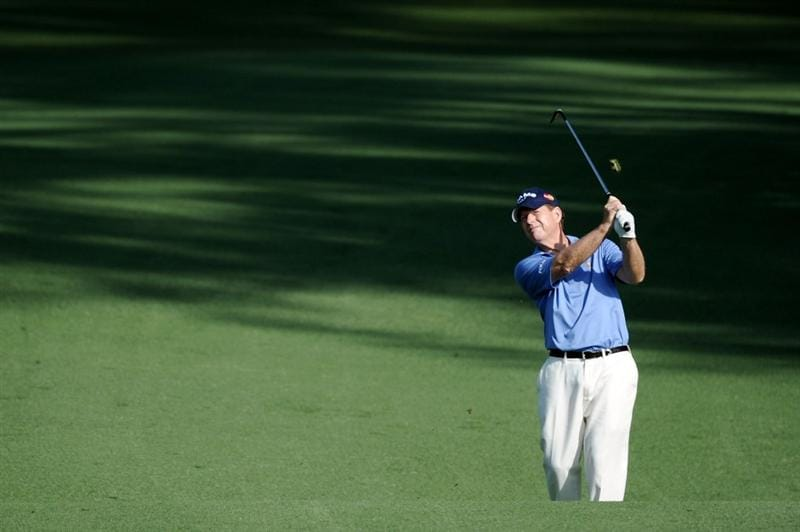 AUGUSTA, GA - APRIL 08:  Tom Watson plays a shot from the fairway on the second hole during the first round of the 2010 Masters Tournament at Augusta National Golf Club on April 8, 2010 in Augusta, Georgia.  (Photo by Harry How/Getty Images)