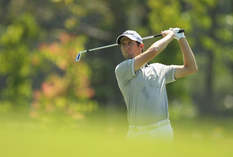 KUALA LUMPUR, MALAYSIA - APRIL 17:  Gregory Bourdy of France plays a shot during the fourth round of the Maybank Malaysian Open at Kuala Lumpur Golf & Country Club on April 17, 2011 in Kuala Lumpur, Malaysia.  (Photo by Ian Walton/Getty Images)
