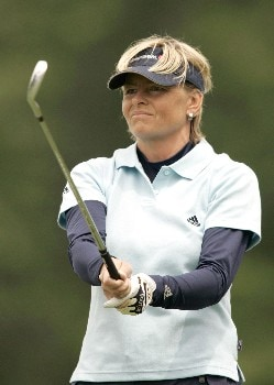 Liselotte Neumann in action during the first round of the 2005 Michelob Ultra Open at Kingsmill. May 4, 2005Photo by Pete Fontaine/WireImage.com