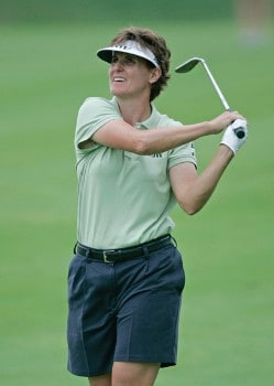 Michele Redman in action during the third round of the 2005 Wendy's Championship for Children at the Tartan Fields Golf Club in Dublin, Ohio on Saturday August 27, 2005.Photo by Hunter Martin/WireImage.com