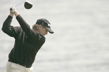 Wendy Ward in action during the first round of the 2005 Michelob Ultra Open at the Kingsmill Resort River course on May 4, 2005Photo by Pete Fontaine/WireImage.com
