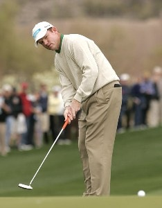 Shaun Micheel during the third round matches of the WGC-Accenture Match Play Championship held at The Gallery at Dove Mountain in Tucson, Arizona, on February 23, 2007. 2007 - PGA TOUR - WGC - Accenture Match Play Championship - Third RoundPhoto by Steve Grayson/WireImage.com