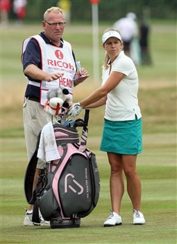 SUNNINGDALE, UNITED KINGDOM - JULY 31:  Johanna Head of England waits to hit her second shot at the 18th hole during the first round of the 2008  Ricoh Women's British Open Championship held on the Old Course at Sunningdale Golf Club, on July 31, 2008 in Sunningdale, England.  (Photo by David Cannon/Getty Images)
