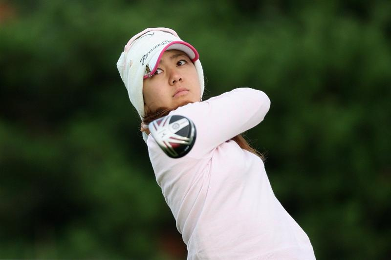 LYTHAM ST ANNES, ENGLAND - JULY 30:  Mika Miyazato of Japan tees off on the 2nd hole during the first round of the 2009 Ricoh Women's British Open Championship held at Royal Lytham St Annes Golf Club, on July 30, 2009 in  Lytham St Annes, England.  (Photo by David Cannon/Getty Images)