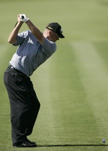 Brett Wetterich on the 2nd hole during the fourth and final round of the WGC-CA Championship held on the Blue Course at Doral Golf Resort and Spa in Doral, Florida, on March 25, 2007. PGA TOUR - WGC - 2007 CA Championship - Final RoundPhoto by Sam Greenwood/WireImage.com