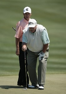 Gary Koch and Roger Maltbie during the second and final round of the Raphael Division at the Liberty Mutual Legends of Golf held at Westin Savannah Harbor Golf Resort & Spa in Savannah, Georgia, on April 21, 2007. Photo by: Chris Condon/PGA TOURPhoto by: Chris Condon/PGA TOUR