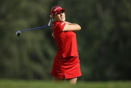KAHUKU, HI - FEBRUARY 14:  Natalie Gulbis hits her tee shot on the 16th hole during the first round of  the SBS Open on February 14, 2008  at the Turtle Bay Resort in Kahuku, Hawaii.  (Photo by Andy Lyons/Getty Images)