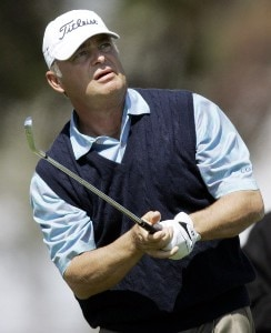 David Eger in action during the final round of the Toshiba Classic, March 19, 2006, held at Newport Beach Country Club, Newport Beach, California. Photo by Gregory Shamus/WireImage.com