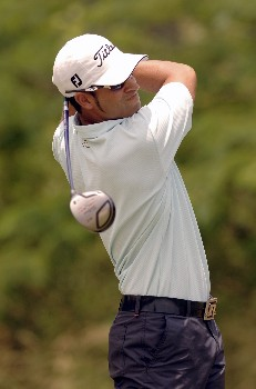 James Nitties hits from the tee during Round Three of the Chattanooga Classic  at Black Creek Club in Chattanooga, Tennessee on June 4, 2005.Photo by Joe Murphy/WireImage.com