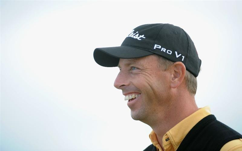 TURNBERRY, SCOTLAND - JULY 19:  Soren Hansen of Denmark smiles during the final round of the 138th Open Championship on the Ailsa Course, Turnberry Golf Club on July 19, 2009 in Turnberry, Scotland.  (Photo by Harry How/Getty Images)