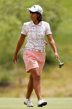 MORELIA, MEXICO - APRIL 28:  Julieta Granada of Paraguay walks accross the third green during the third round of the Corona Championship April 28, 2007 at Tres Marias Club de Golf in Morelia, Michoacan, Mexico.  (Photo by Matthew Stockman/Getty Images)