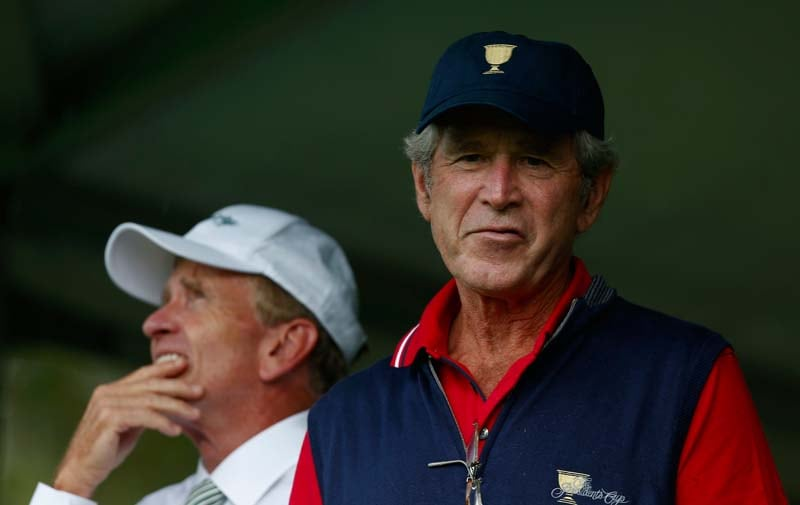 George W. Bush and Tim Finchem