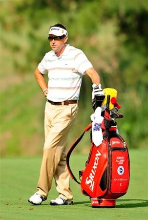 PONTE VEDRA BEACH, FL - MAY 06:  Robert Allenby of Australia waits on the sixth hole during the first round of THE PLAYERS Championship held at THE PLAYERS Stadium course at TPC Sawgrass on May 6, 2010 in Ponte Vedra Beach, Florida.  (Photo by Sam Greenwood/Getty Images)