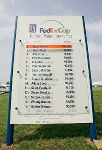 The FedExCup reveal the standings during the third round of The Barclays held at Westchester Country Club August 25, 2007 in Harrison, New York. PGA TOUR - 2007 The Barclays - Third RoundPhoto by Chris Condon/PGA TOUR/WireImage.com