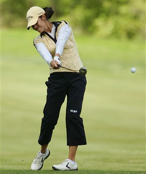 CORNING, NY - MAY 24:  Leta Lindley hits her second shot on the 12th hole during the third round of the LPGA Corning Classic at Corning Country Club on May 24, 2008 in Corning, New York.  (Photo by Kyle Auclair/Getty Images)