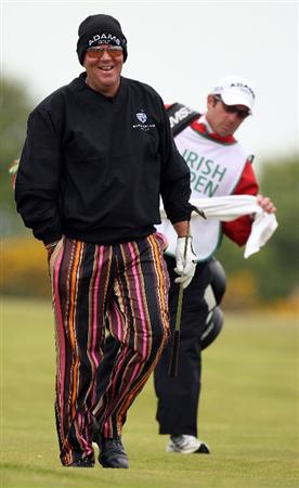 BALTRAY, IRELAND - MAY 13:  John Daly of the USA during the Pro-Am prior to the start of The 3 Irish Open at County Louth Golf Club on May 13, 2009 in Baltray, Ireland.  (Photo by Ross Kinnaird/Getty Images)