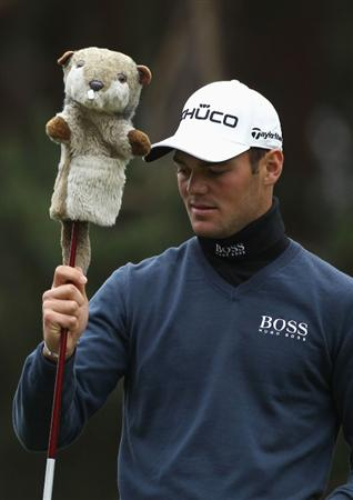 VIRGINIA WATER, ENGLAND - MAY 27:  Martin Kaymer of Germany pulls out his driver during the second round of the BMW PGA Championship at the Wentworth Club on May 27, 2011 in Virginia Water, England.  (Photo by Warren Little/Getty Images)