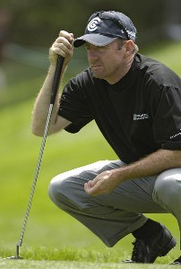 Rod Pampling on the 17th hole during the fourth and final round of The INTERNATIONAL held at Castle Pines Golf Club in Castle Rock, Colorado, on August 13, 2006.Photo by Marc Feldman/WireImage.com