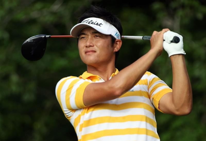 PONTE VEDRA BEACH, FL - MAY 07:  Ryuji Imada of Japan hits his tee shot on the fifth hole during the second round of THE PLAYERS Championship held at THE PLAYERS Stadium course at TPC Sawgrass on May 7, 2010 in Ponte Vedra Beach, Florida.  (Photo by Scott Halleran/Getty Images)