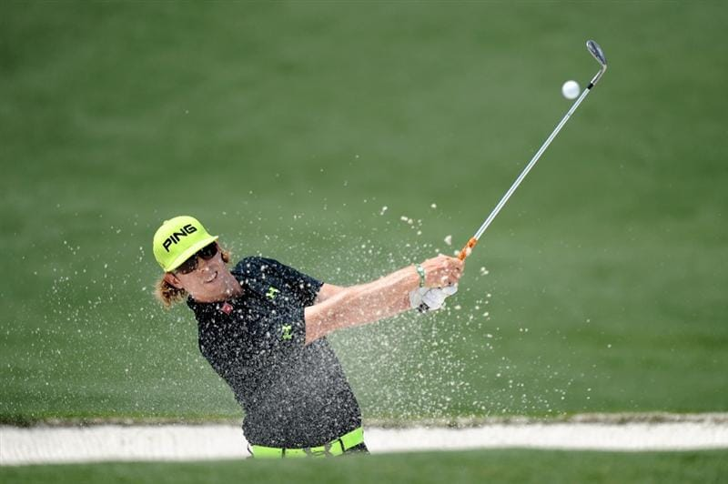 AUGUSTA, GA - APRIL 08:  Hunter Mahan plays a bunker shot on the second hole during the second round of the 2011 Masters Tournament at Augusta National Golf Club on April 8, 2011 in Augusta, Georgia.  (Photo by Harry How/Getty Images)