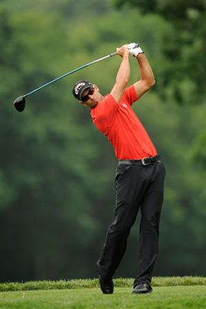 FARMINGDALE, NY - JUNE 19:  James Nitties of Australia hits his tee shot on the fifth hole during the continuation of the first round of the 109th U.S. Open on the Black Course at Bethpage State Park on June 19, 2009 in Farmingdale, New York.  (Photo by Sam Greenwood/Getty Images)