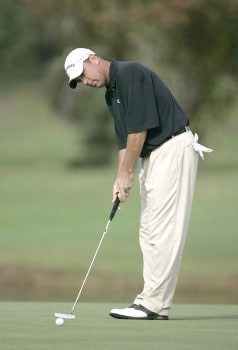 Patrick Sheehan during the second round of the Funai Classic held on the Palm and Magnolia courses at Walt Disney World Resort on Friday, October 21, 2005.Photo by Sam Greenwood/WireImage.com