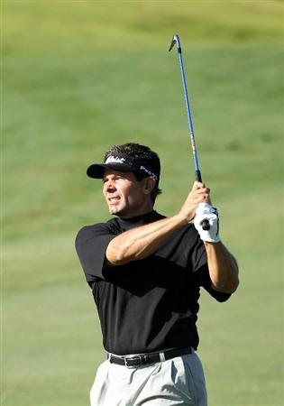CONOVER, NC - OCTOBER 02:  Keith Clearwater hits his second shot on the first hole during the second round of the Ensure Classic at the Rock Barn Golf & Spa on October 2, 2010 in Conover, North Carolina.  (Photo by Christian Petersen/Getty Images)