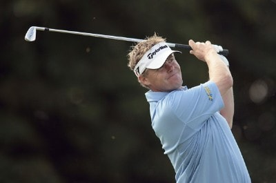 Sweden's Joakim Haeggman in action during the first round of the 2006 Smurfit Kappa European Open at the K Club in Straffan, Ireland on July 6, 2006.Photo by Pete Fontaine/WireImage.com