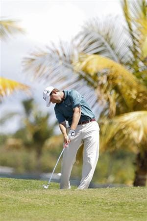 RIO GRANDE, PR - MARCH 13:  Hunter Haas hits his second shot on the second hole during the final round of the Puerto Rico Open presented by seepuertorico.com at Trump International Golf Club on March 13, 2011 in Rio Grande, Puerto Rico.  (Photo by Michael Cohen/Getty Images)