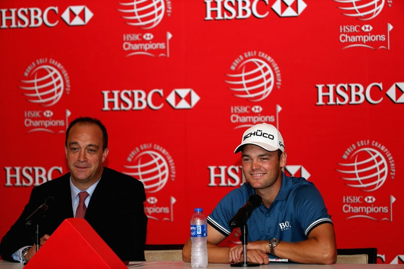 Martin Kaymer and Giles Morgan