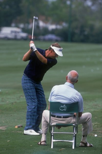 Sandy Lyle and father Alex