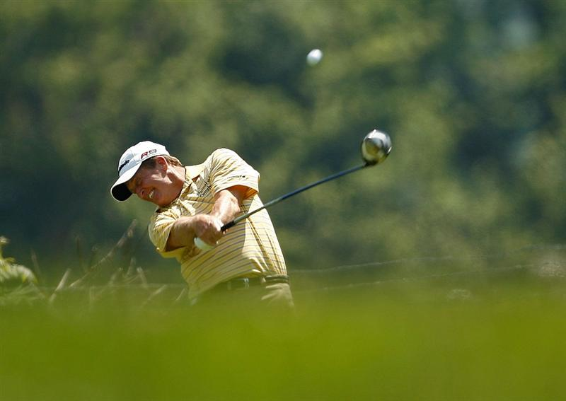 ENDICOTT, NY - JUNE 28:  Fred Funk hits his tee shot on the 13th hole during the final round of The Dick's Sporting Goods Open at En-Joie Golf Club on Sunday, June 28, 2009 in Endicott, New York  (Photo by Mike Ehrmann/Getty Images)