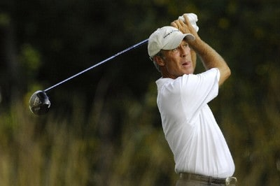 Ben Crenshaw plays his shot from the 16th tee during the first round of the Constellation Energy Senior Players Championship at Baltimore Country Club/Five Arms (East Course) on October 4, 2007 in Timonium, Maryland. Champions Tour - 2007 Constellation Energy Senior Players Championship - First RoundPhoto by Jonathan Ernst/WireImage.com