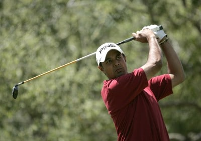 Arjun Atwal in action during the final round of the Nationwide TOUR 2007 Livermore Valley Wine Country Championship at Wente Vineyards in Livermore, California on April 1, 2007. Nationwide Tour - 2007 Livermore Valley Wine Country Championship - Final RoundPhoto by Steve Grayson/WireImage.com