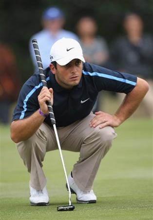 HONG KONG, CHINA - NOVEMBER 22:  Francesco Molinari of Italy lines up his putt on the 13th hole during the third round of the UBS Hong Kong Open at the Hong Kong Golf Club on November 22, 2008 in Fanling, Hong Kong.  (Photo by Stuart Franklin/Getty Images)