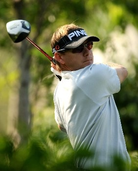 SHENZHEN, CHINA - NOVEMBER 21:  Heath Slocum of the USA in action during the Pro-Am for the Omega Mission Hills World Cup at the Mission Hills Resort on 21 November 2007 in Shenzhen, China.  (Photo by Richard Heathcote/Getty Images)