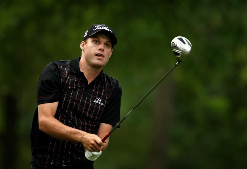 CHARLOTTE, NC - APRIL 30:  Nick Watney of the USA tee's off at the 4th during the first round of the Quail Hollow Championship at Quail Hollow Golf Club on April 30, 2009 in Charlotte, North Carolina.  (Photo by Richard Heathcote/Getty Images)