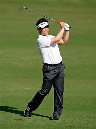 SOUTHAMPTON, BERMUDA - OCTOBER 20:  Y.E. Yang of South Korea hits his second shot on the 1st hole during the first round of the PGA Grand Slam of Golf on October 20, 2009 Port Royal Golf Course in Southampton, Bermuda.  (Photo by Andy Lyons/Getty Images)