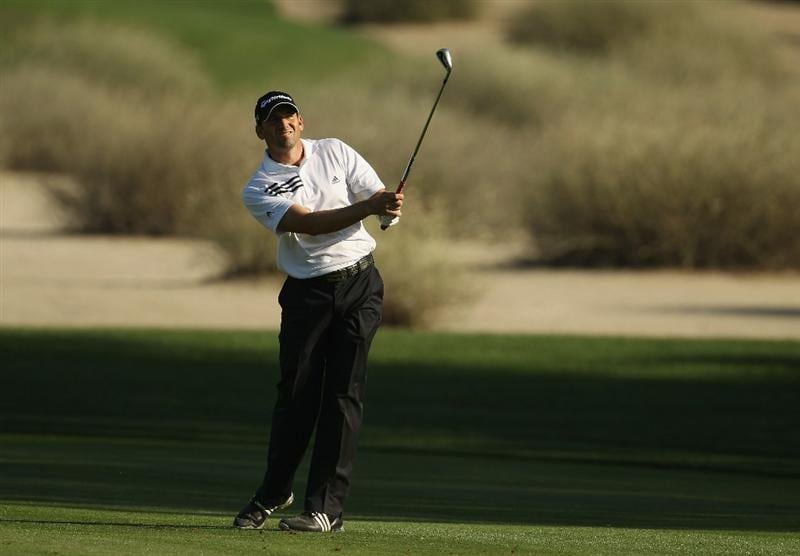 DUBAI, UNITED ARAB EMIRATES - FEBRUARY 12:  Sergio Garcia of Spain in action during the third round for the 2011 Omega Dubai desert Classic held on the Majilis Course at the Emirates Golf Club on February 12, 2011 in Dubai, United Arab Emirates.  (Photo by Ian Walton/Getty Images)