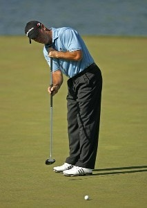 Peter Lonard on the 18th hole during the second round of the AT&T Classic held at TPC Sugarloaf in Duluth, GA on May 18, 2007. PGA TOUR - 2007 AT&T Classic - Second RoundPhoto by Mike Ehrmann/WireImage.com