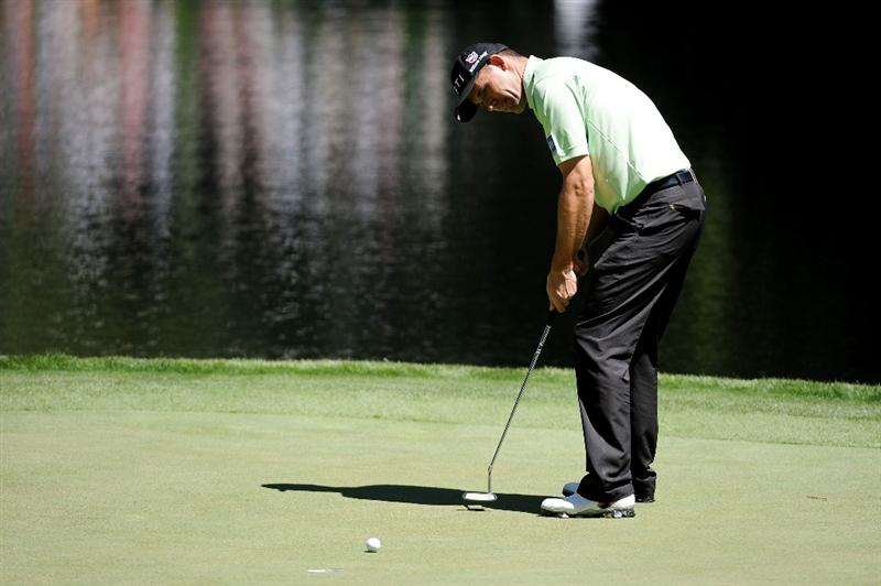 AUGUSTA, GA - APRIL 06:  Padraig Harrington of Ireland putts during the Par 3 Contest prior to the 2011 Masters Tournament at Augusta National Golf Club on April 6, 2011 in Augusta, Georgia.  (Photo by Harry How/Getty Images)