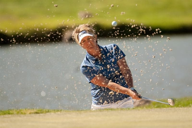 MORELIA, MEXICO - APRIL 30: Beth Bader plays a bunker shot during the second round of the Tres Marias Championship at the Tres Marias Country Club on April 30, 2010 in Morelia, Mexico. (Photo by Darren Carroll/Getty Images)