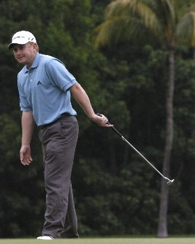 Steve Allan competes in first-round competition March 3, 2005  at the Ford Championship at Doral in Miami.