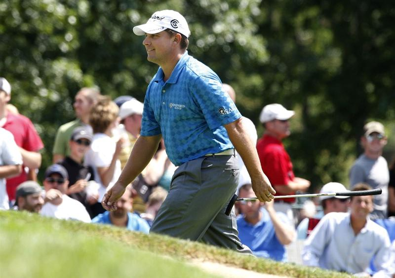 GRAND BLANC, MI - AUGUST 02:  Roland Thatcher walks up to the 17th green during the final round of the Buick Open at Warwick Hills Golf and Country Club on August 2, 2009 in Grand Blanc, Michigan.  (Photo by Gregory Shamus/Getty Images)